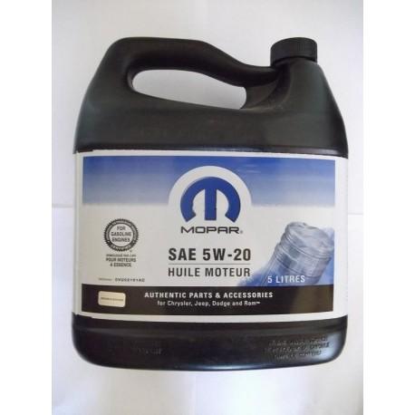 Motorový olej 5W20 MOPAR 0VU0161AC 5L